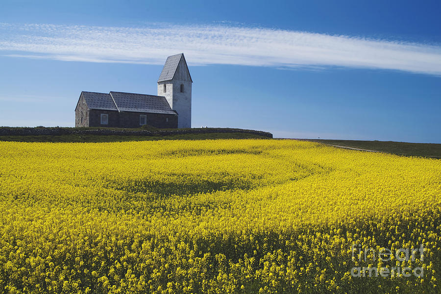 Blue Photograph - Trans Church by Wedigo Ferchland