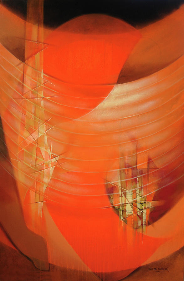 Abstract Painting - Transparent Up And Down Of Mind by Sagar Talekar