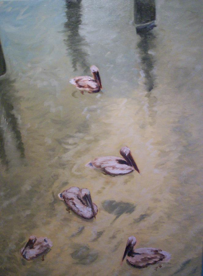 Water Painting - Treading Water by Karen Thompson