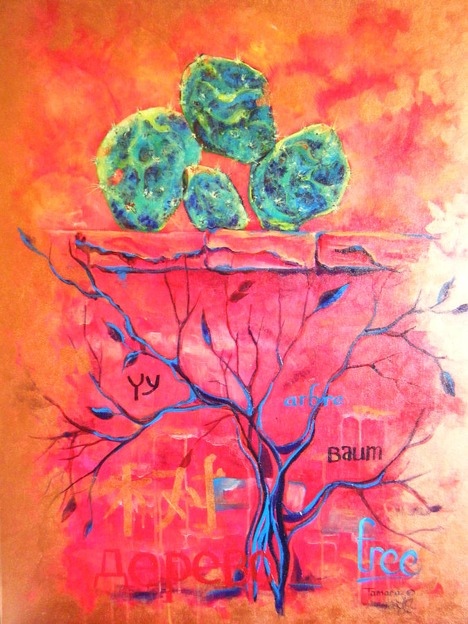 Acrylic Painting - Tree Dawn painting in Acrylic by Tamara Kulish
