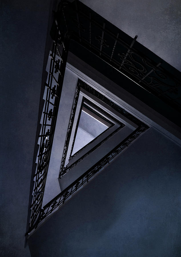 Architecture Photograph - Triangle Staircase by Jaroslaw Blaminsky