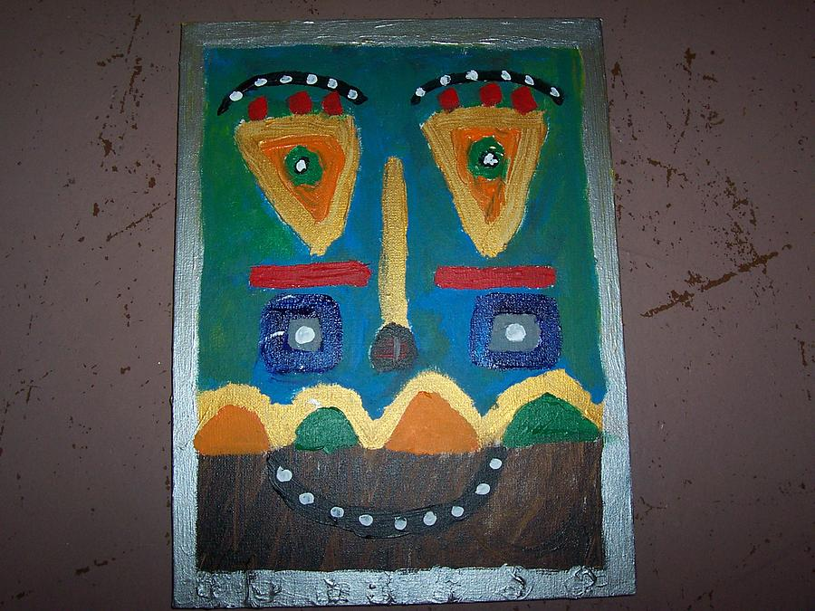 Tribal Mask 6 Painting by Dennis Young