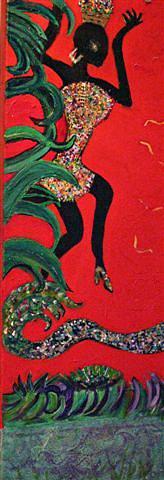 Dancing Mixed Media - Trippin by Anne-Elizabeth Whiteway