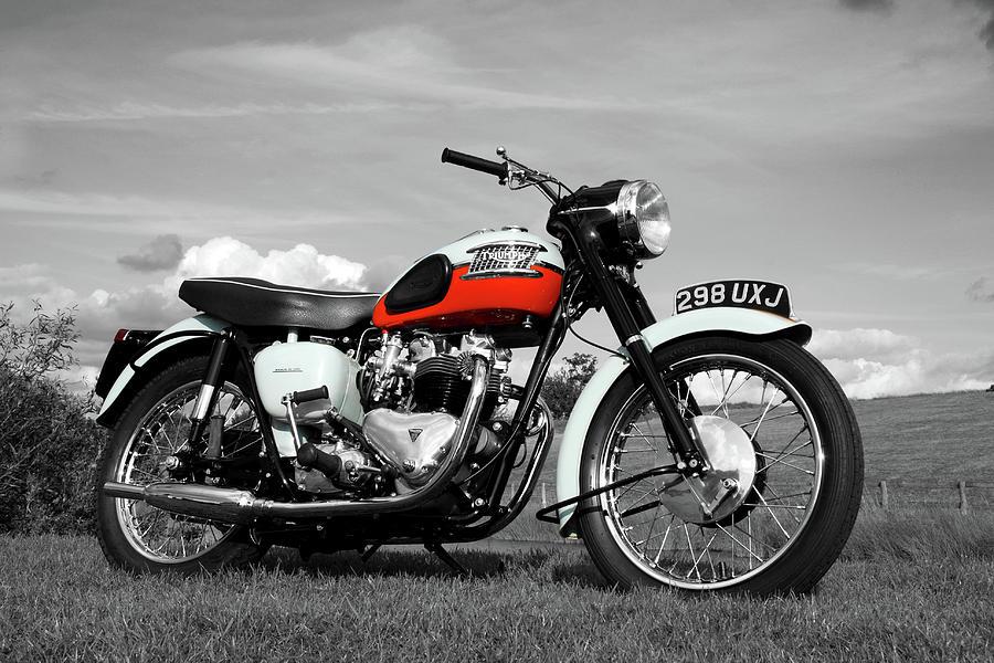 Motorcycle Photograph - Triumph Bonneville 1959 by Mark Rogan