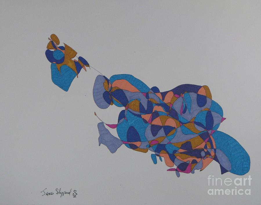 Abstract Fish Mixed Media - Tropical Fish by James SheppardIII