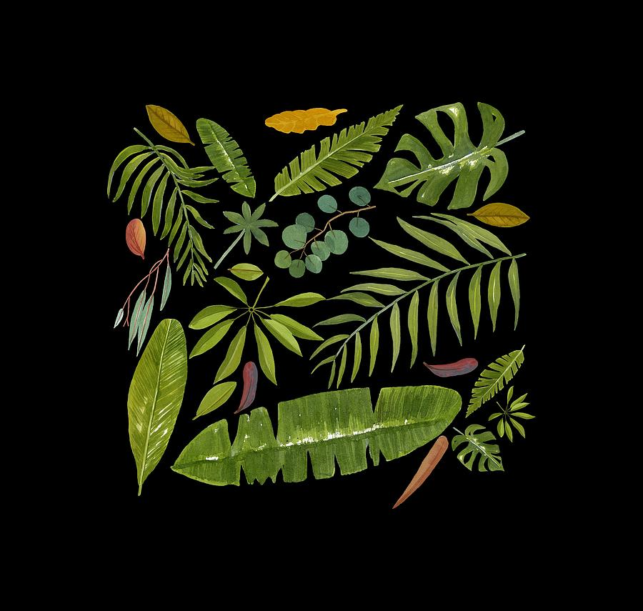 Watercolor Painting - Tropical Leaves by World Parrot Trust