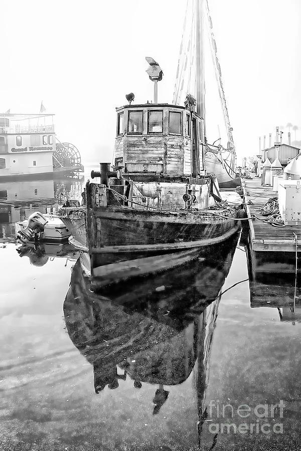 Black And White Photograph - Tug Boat by Hartono Tai