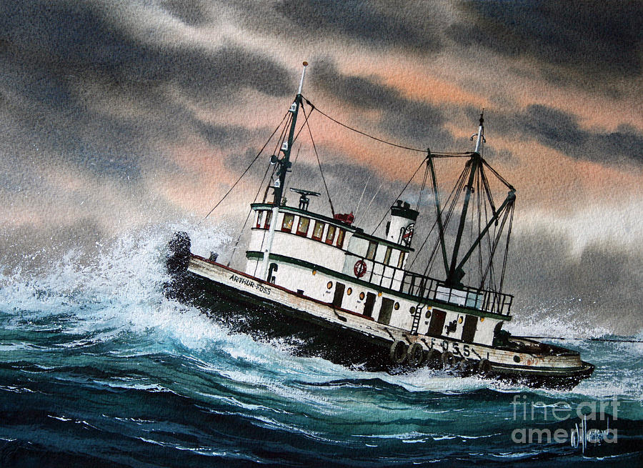 Tugs Painting - Tugboat ARTHUR FOSS by James Williamson
