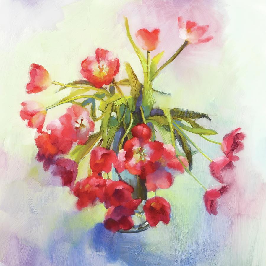 Floral Painting - Tulip Fling by Cathy Locke