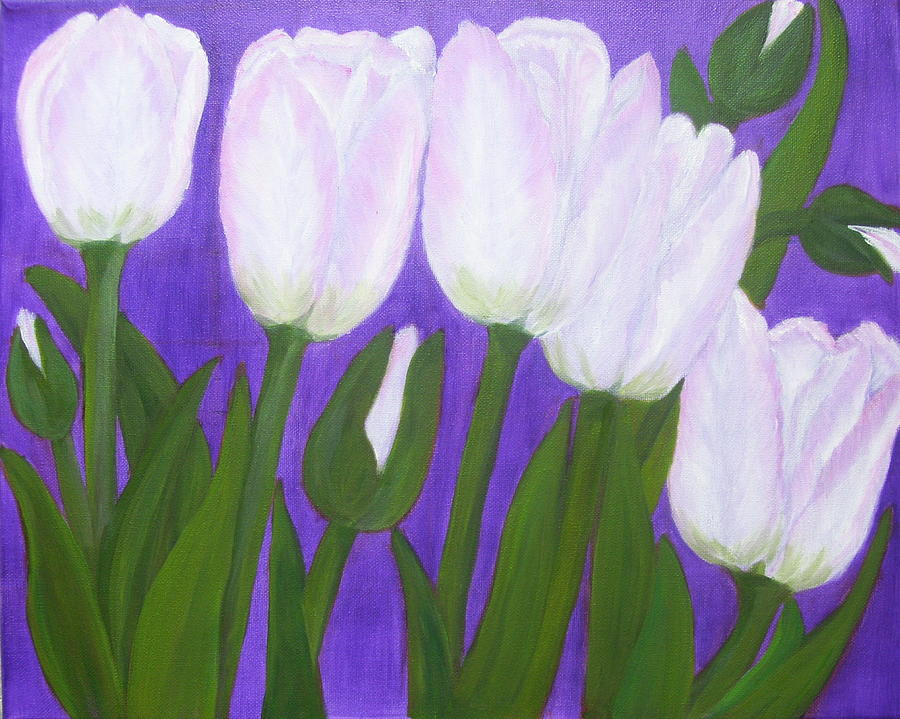 Flowers Painting - Tulips by Elizabeth Janus
