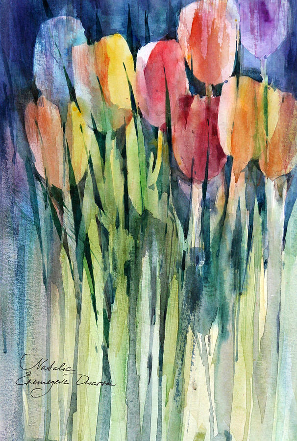 Flowers Painting - Tulips by Natalia Eremeyeva Duarte