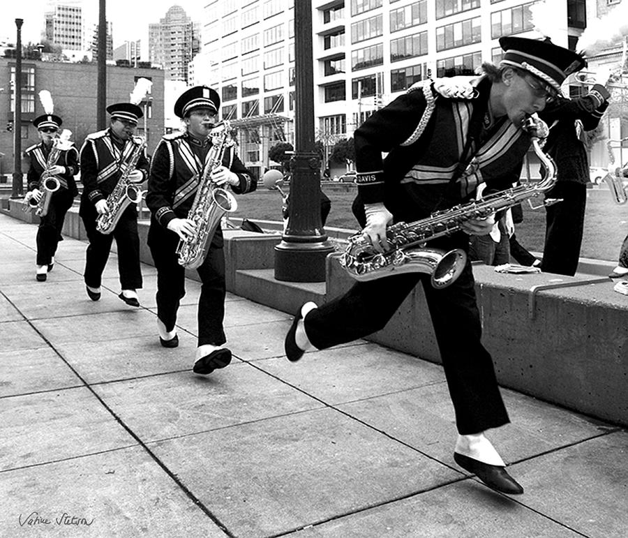 Marching Band Photograph - Tune Up by Sabine Stetson