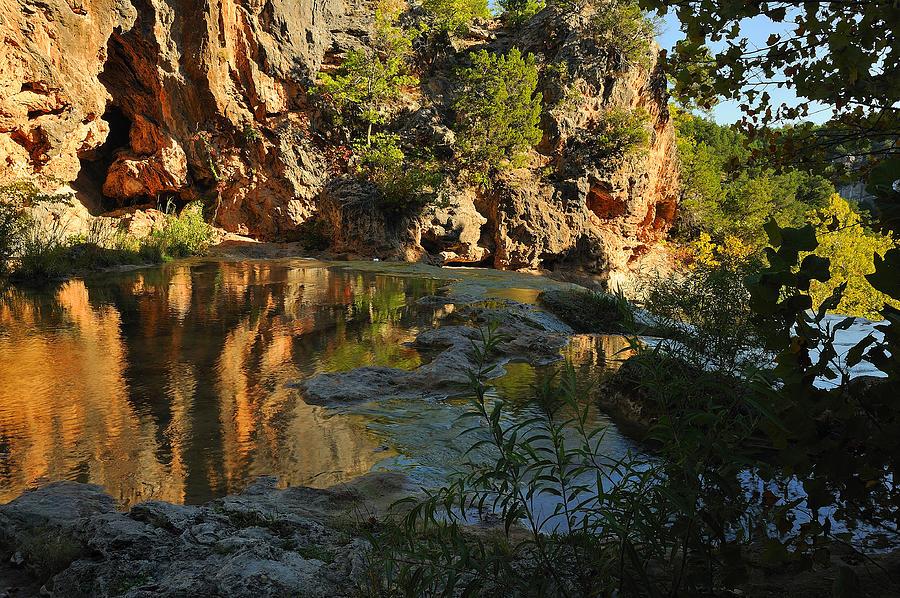 Turner Falls Photograph - Turner Falls Area by Iris Greenwell