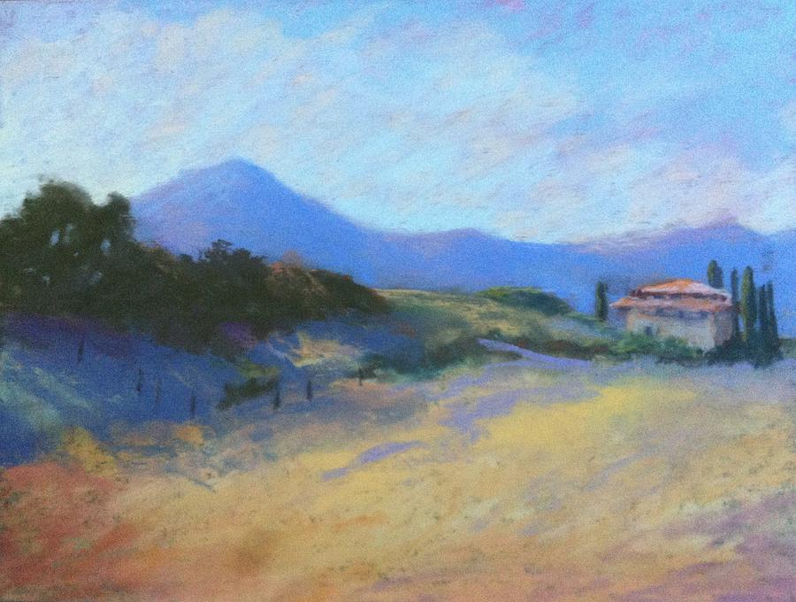 Tuscany Painting - Tuscan Farm by Janet Biondi