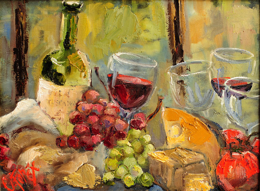 Tuscany Painting - Tuscan Table by Carole Foret