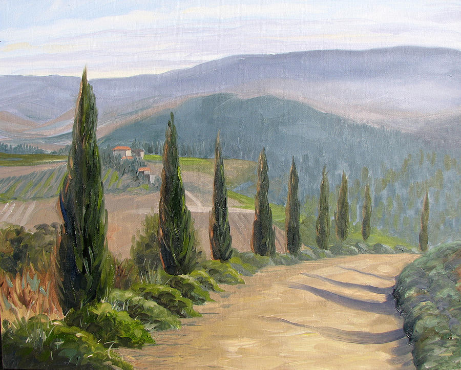 Landscape Painting - Tuscany Road by Jay Johnson