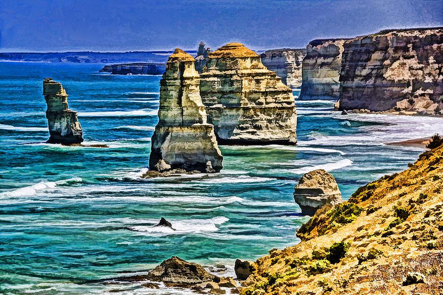 Australia Photograph - Twelve Apostles by Dennis Cox WorldViews