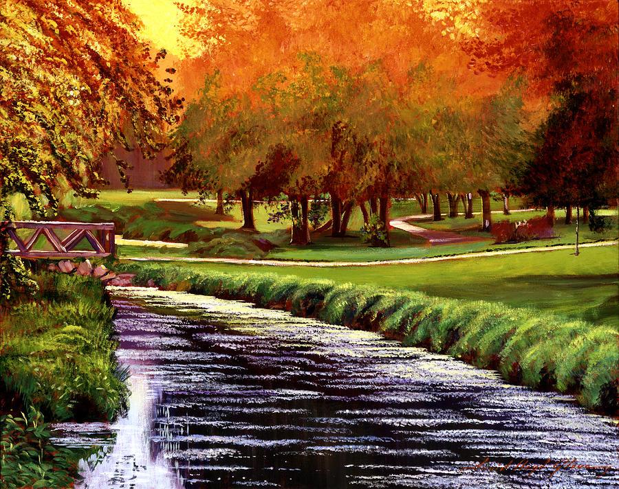 Golf Painting - Twilight Golf by David Lloyd Glover