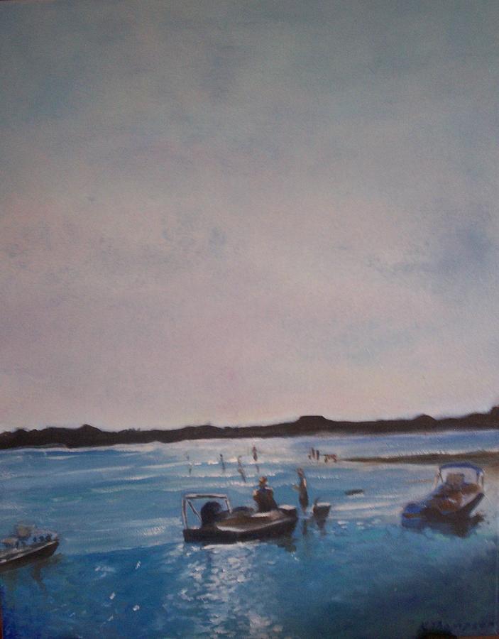 Sunset Painting - Twilight Tide by Karen Thompson