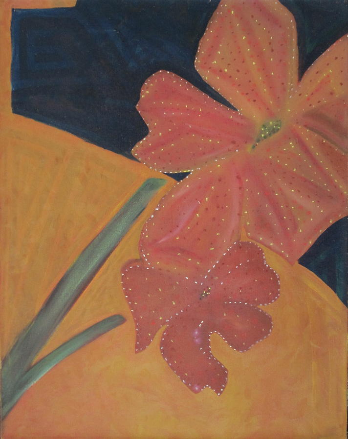Flowers Painting - Two Flowers by Patricia Cleasby
