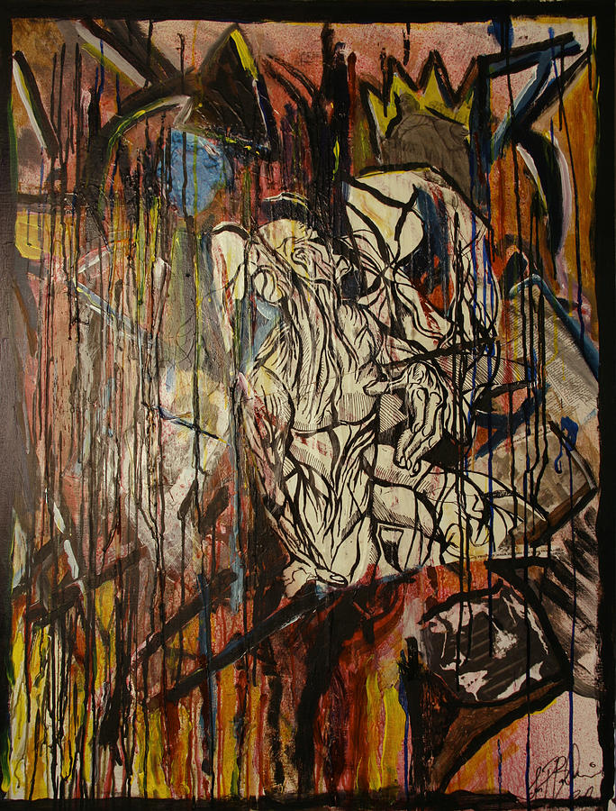 Abstract Mixed Media - Two Hell And Back  by Jon Baldwin  Art