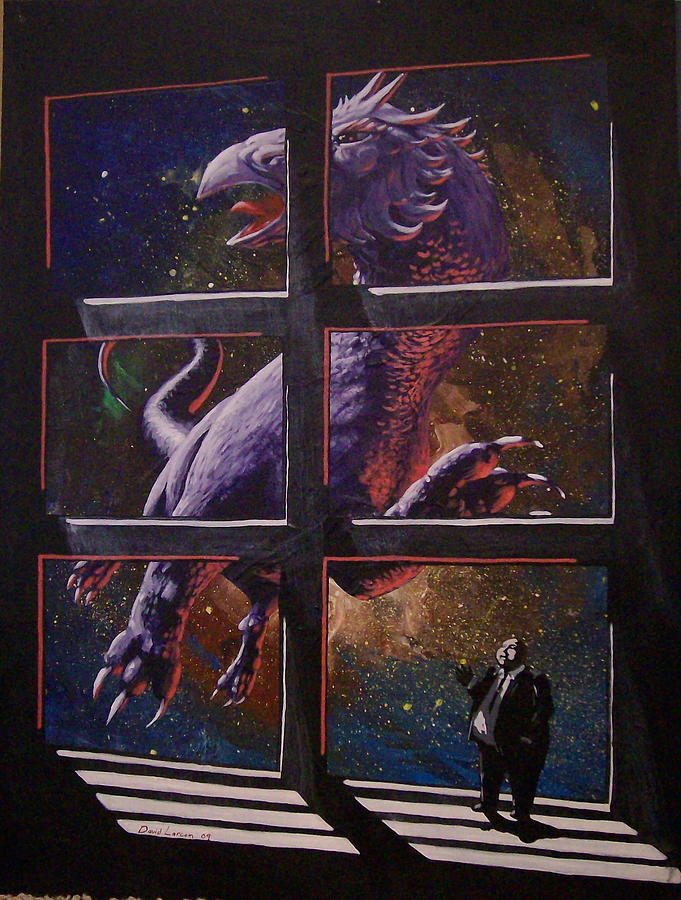 Dragon Painting - U-gi-o by David  Larcom
