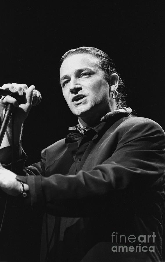 U2 Paul Hewson Bono Photograph by Concert Photos