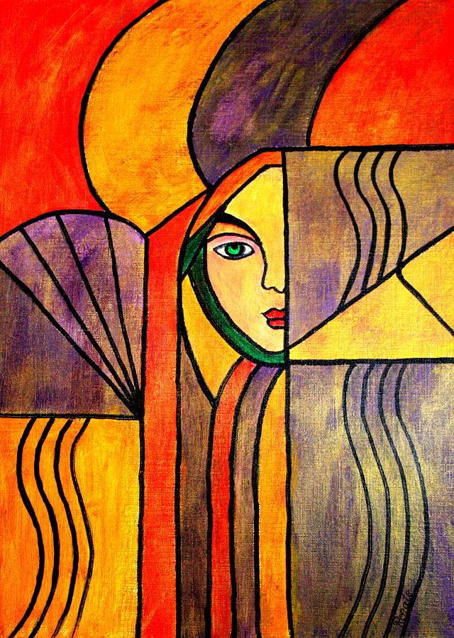 Uncertain..... Painting by Renate Dartois