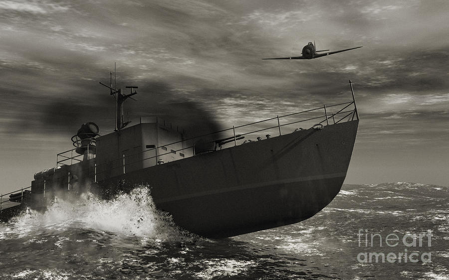 War Digital Art - Under Attack  by Richard Rizzo