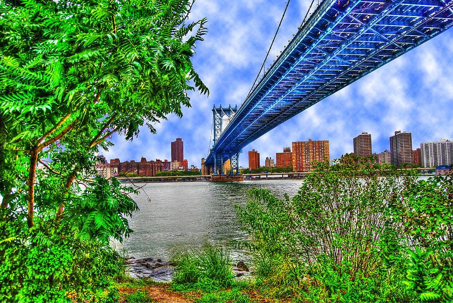 Manhattan Bridge Photograph - Under The Bridge by Randy Aveille