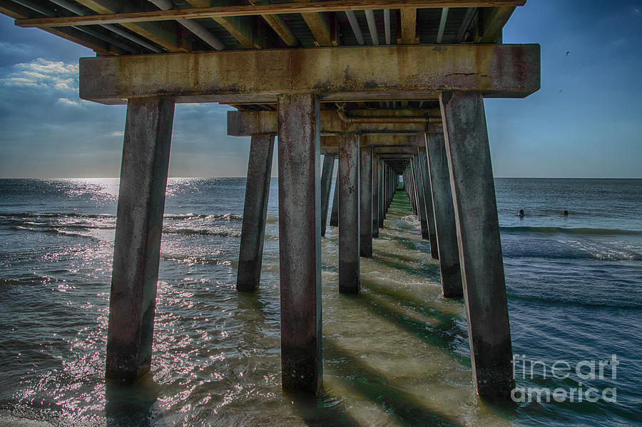 Naples Photograph - Under The Naples Pier by Judy Hall-Folde