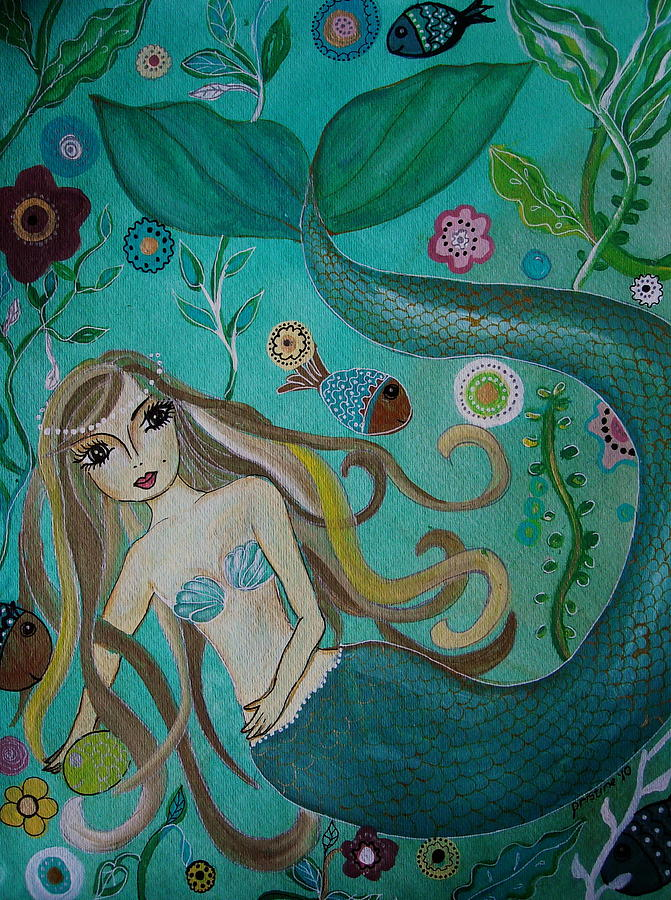 Mermaid Painting - Under The Sea by Pristine Cartera Turkus