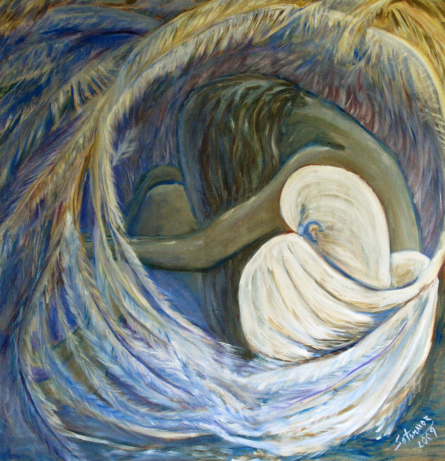 Under the Shadow of His Wings Painting by Gladiola Sotomayor