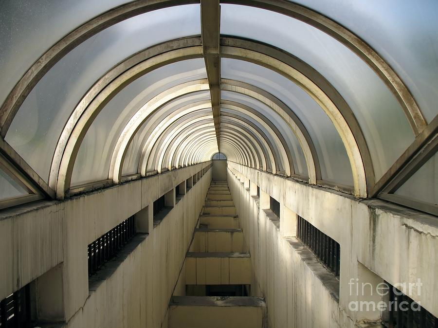 Glass Photograph - Underground Vault by Yali Shi
