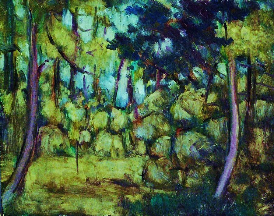 Landscape Painting - Undergrowth by Jean pierre  Harixcalde