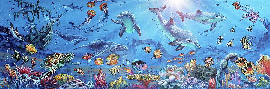 Underwater Happy Hour Painting