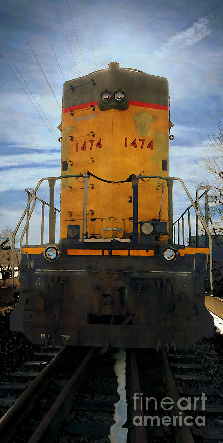 Union Pacific Digital Art - Union Pacific 1474 by David Blank