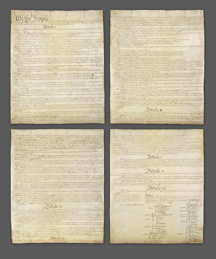 Us Constitution Photograph - United States Constitution, Usa by Panoramic Images