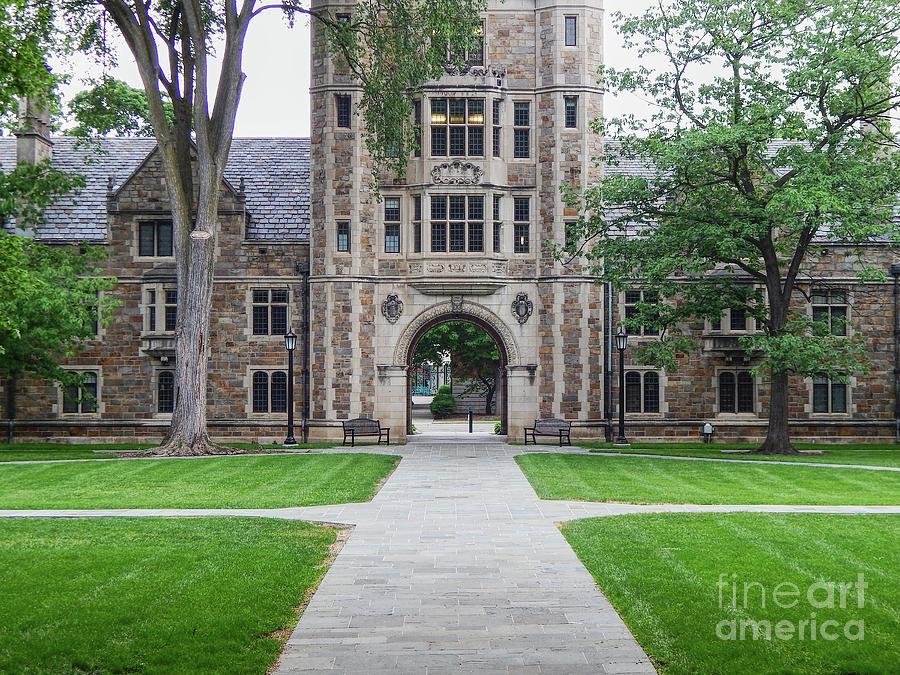University Of Michigan Photograph - University of Michigan Campus by Phil Perkins