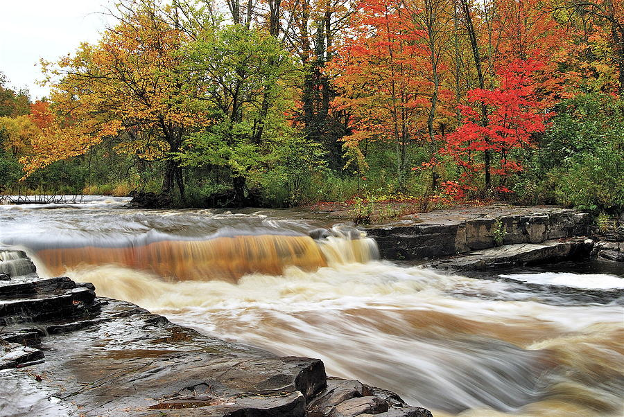 Michigan Photograph - Unnamed Falls by Michael Peychich