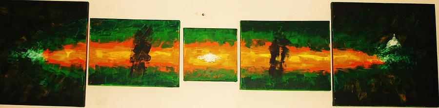 Abstract Painting - Untitled by R Aggarwal India