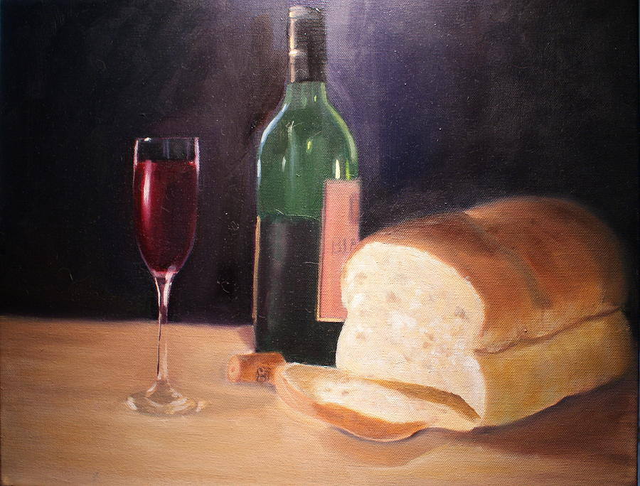 Wine Painting - Untitled 1 by Toni Berry