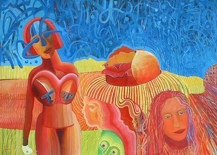 Abstract Painting - Urunthrumymindlikeawaterfallpoem by Richard Heley