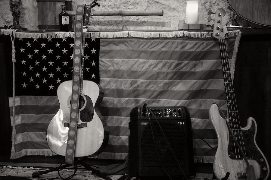 Usa Rocks In Black And White Photograph