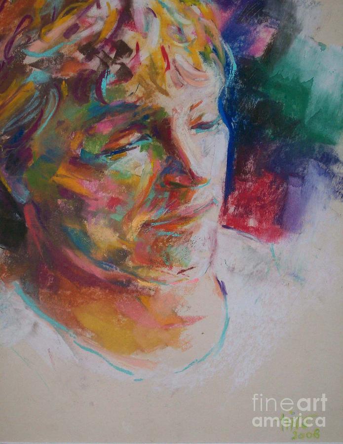 Portrait Painting - Ushi by Tina Siddiqui