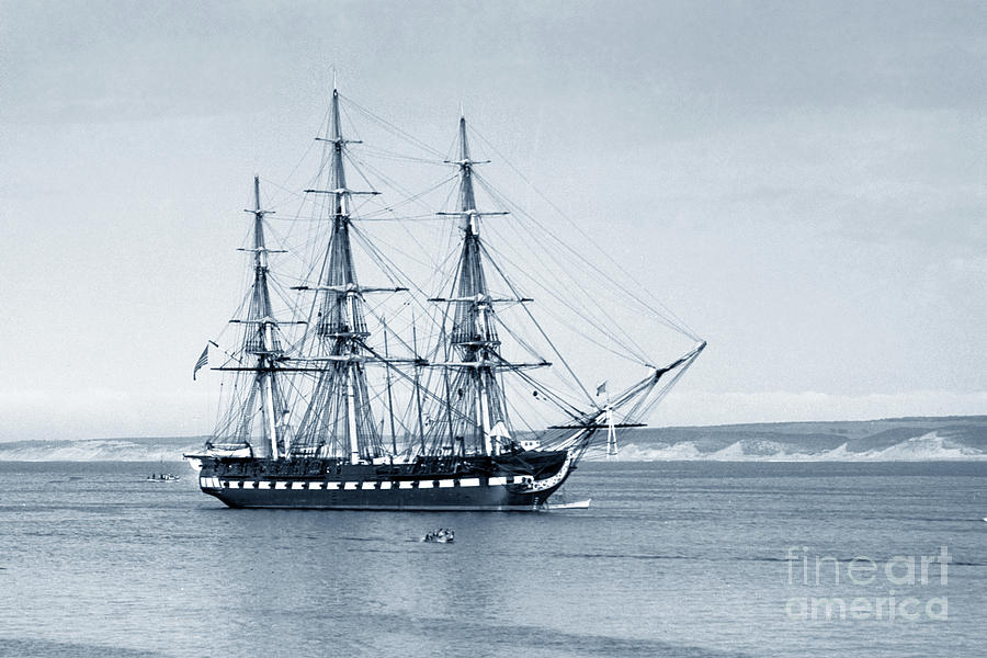 Old Ironsides Photograph - Uss Constitution Old Ironsides In Monterey Bay Oct. 1933 by California Views Archives Mr Pat Hathaway Archives