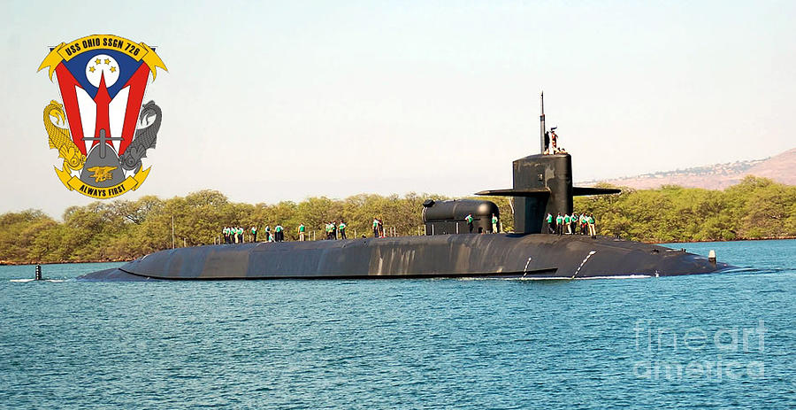 Uss Ohio Photograph by Baltzgar