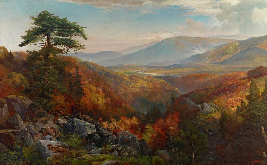 Autumn Painting - Valley Of The Catawissa In Autumn by Thomas Moran