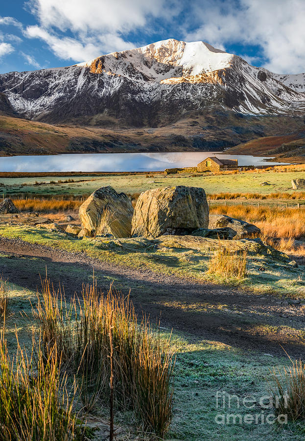 Winter Photograph - Valley Sunlight by Adrian Evans