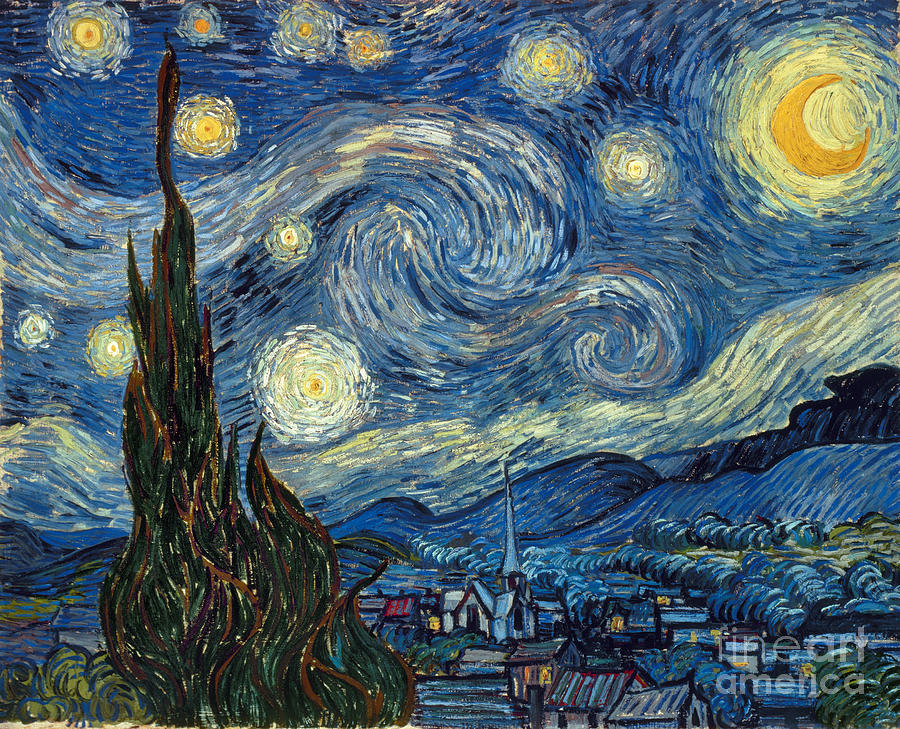 1889 Painting - Van Gogh Starry Night by Granger